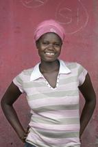 African lady smiling