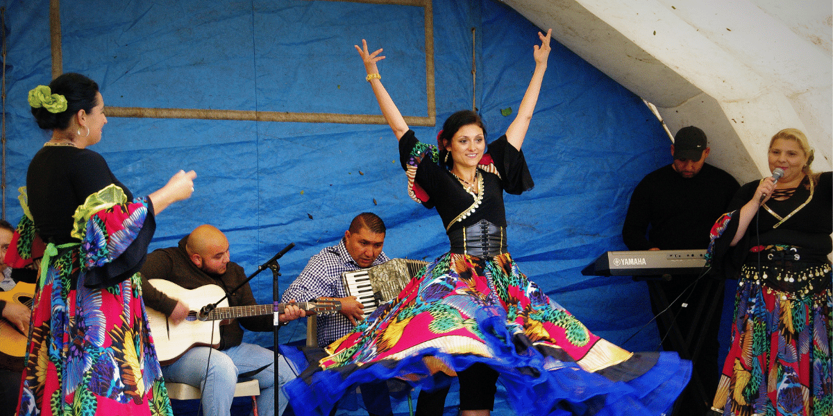 Women performing as part of Refugee Festival Scotland